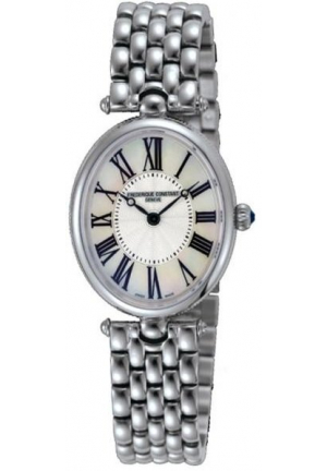 CLASSICS ART DECO SILVER DIAL BLACK STAIN LADIES WATCH 25 MM X 30 MM