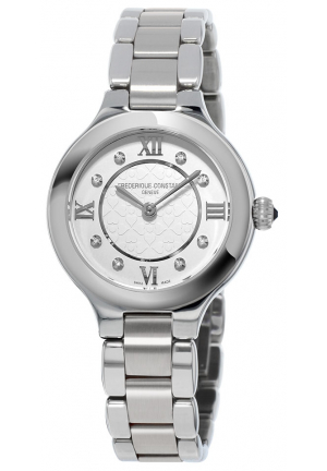CLASSICS DELIGHT SILVER DIAMOND STAINLESS STEEL LADIES WATCH FC-200WHD1ER36B, 28MM