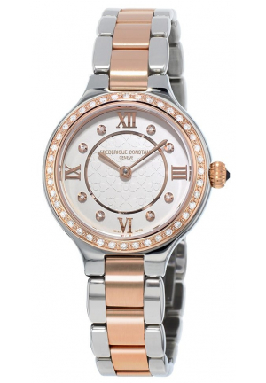 CLASSCIS DELIGHT TWO TONE STEEL DIAMOND LADIES WATCH FC-200WHD1ERD32B, 26.5MM