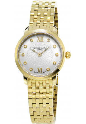 SLIMLINE LADIES YELLOW GOLD PLATED QUARTZ WATCH 25MM