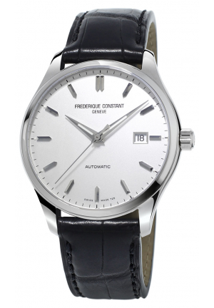 Frederique Constant Automatic Index silver dial leather straps