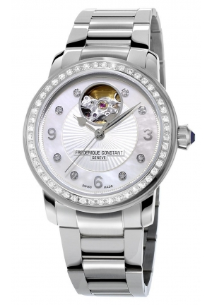 HEART BEAT ANALOG DISPLAY SWISS AUTOMATIC LADIES WATCH , 34MM