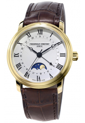 CLASSICS MOONPHASE STAINLESS AUTOMATIC MEN'S WATCH FC-330MC4P5, 40MM
