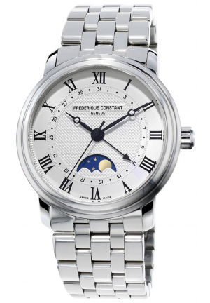 CLASSICS MOONPHASE STAINLESS AUTOMATIC MEN'S WATCH FC-330MC4P6B, 40MM