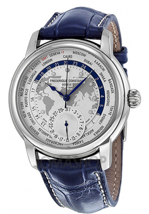 FREDERIQUE CONSTANT WORLDTIMER MEN'S WATCH 42MM