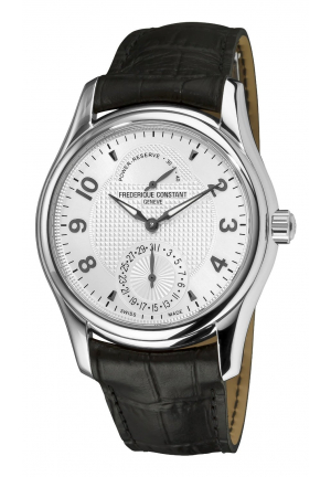RUNABOUT AUTOMATIC SILVER GUILLOCHE LEATHER MENS WATCH 43MM