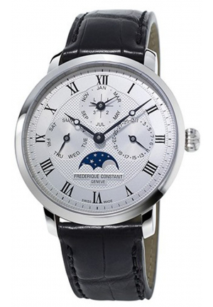 SLIMLINE PERPETUAL CALENDAR STAINLESS AUTOMATIC MEN'S WATCH FC-775MC4S6 , 42MM
