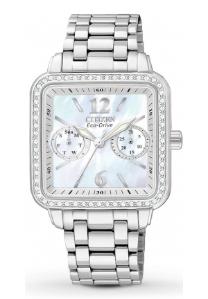 "Citizen Women's Eco-Drive ""Silhouette"" Stainless Steel Swarovski Crystal-Accented Watch"