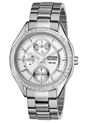 Citizen Women's Drive from Citizen Eco-Drive POV 2.0 Stainless Steel Swarovski Crystal-Accented Watch