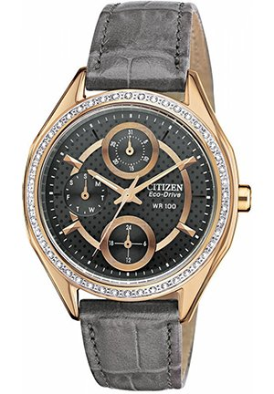 Women's Drive from Citizen Eco-Drive Gray Leather Strap 35mm