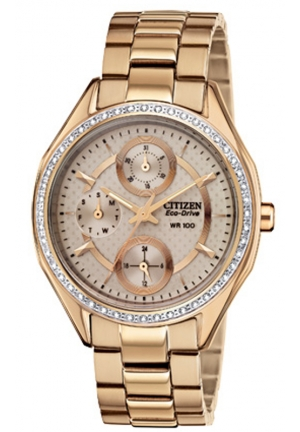 Citizen Women's POV 2.0 Drive from Citizen Swarovski Crystal-Accented Rose Gold-Tone Stainless Steel Watch