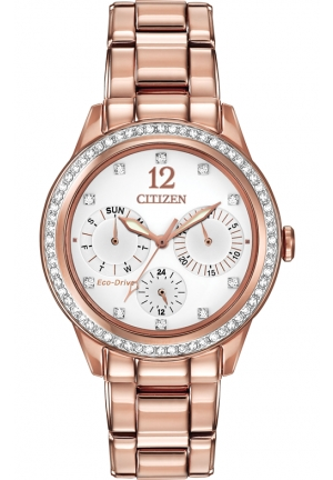 Citizen Women's Silhouette Crystal Analog Display Japanese Quartz ROSE Gold Watch