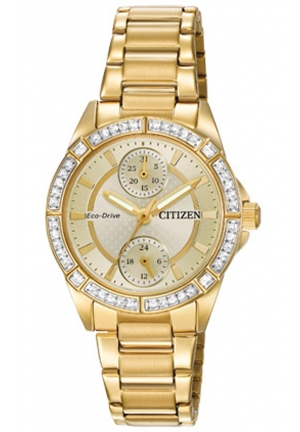Citizen Women's Drive from Citizen Eco-Drive POV Analog Display Japanese Quartz Gold Watch