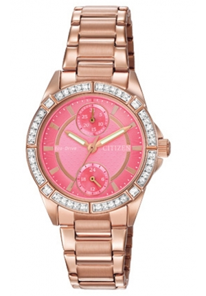 Citizen Women's Eco-Drive Analog Display Japanese Quartz Rose Gold-Tone Watch