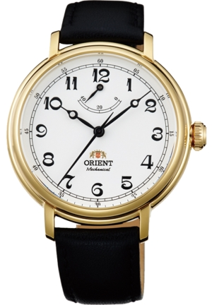 ORIENT WITH LEATHER BAND MEN'S