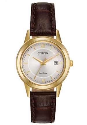 Citizen Women's Ladies Straps Analog Display Japanese Quartz Brown Watch