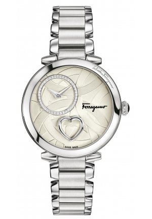 CUORE FERRAGAMO WHITE DIAL STAINLESS STEEL, 39MM