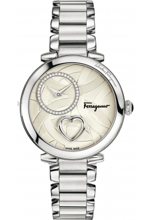 CUORE FERRAGAMO DIAMONDS MOP DIAL STAINLESS STEEL, 39MM