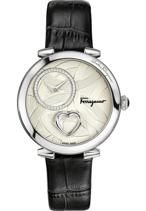 SALVATORE FERRAGAMO CUORE BLACK WATCH 39MM