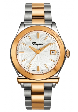 FERRAGAMO 1898 Analog Display Quartz Two Tone Watch 44mm