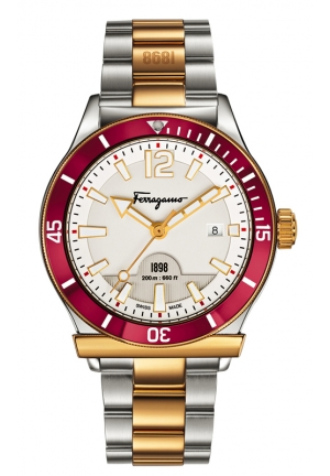 FERRAGAMO 1898 SPORT Analog Display Quartz Two Tone Watch 43mm
