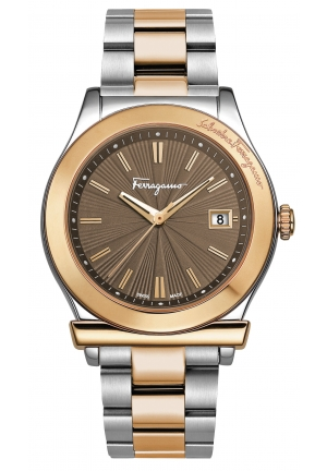 FERRAGAMO 1898 TWO TONE STEEL LADIES WATCH, 40MM