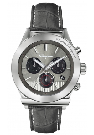 FERRAGAMO 1898 CHRONOGRAPH GREY DIAL FFM090016, 42MM