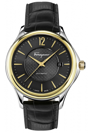 FERRAGAMO TIME SILVER DIAL WATCH, 41MM
