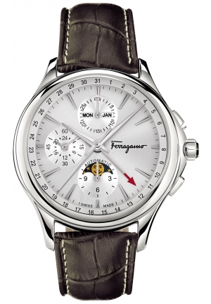 FERRAGAMO TIME CHRONOGRAPH STAINLESS AUTOMATIC MEN'S WATCH, 44MM