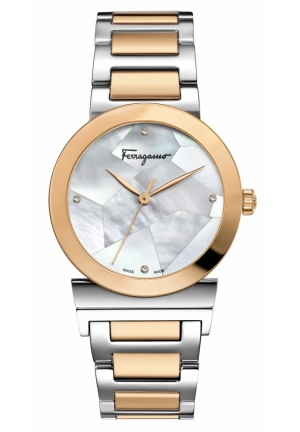 Salvatore Ferragamo Women's Quartz Two Tone Watch