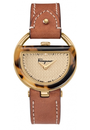 Salvatore Ferragamo Women's  BUCKLE Analog Display Quartz Brown Watch