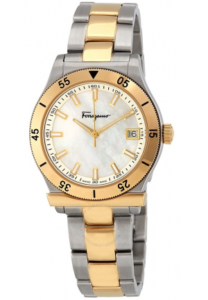 FERRAGAMO 1898 MOTHER OF PEARL DIAL LADIES WATCH FH0010017, 33MM