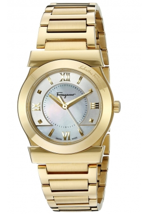 VEGA YELLOW GOLD ION-PLATED WATCH, 32MM