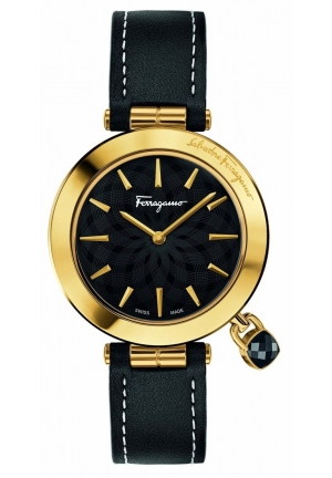 Salvatore Ferragamo Women's Intreccio Analog Display Quartz Black Watch