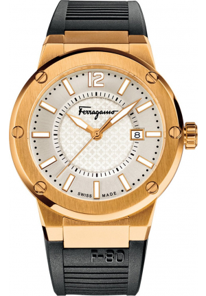 SALVATORE FERRAGAMO F-80 QUARTZ WATCH 44MM