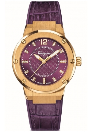 F-80 LADIES GOLD IP/STAINLESS WATCH, 33MM