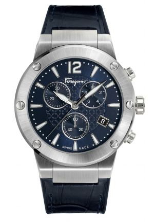 F-80 SWISS QUARTZ STAINLESS STEEL AND LEATHER, 44MM