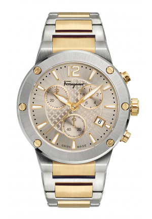 SALVATORE FERRAGAMO F-80 MEN'S WATCH 44MM