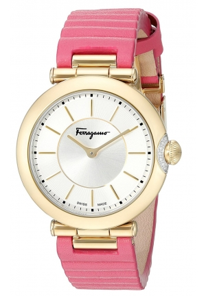 FERRAGAMO STYLE DISPLAY QUARTZ PINK WATCH, 36MM