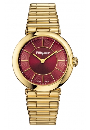 FERRAGAMO STYLE GOLD LADIES WATCH, 36MM