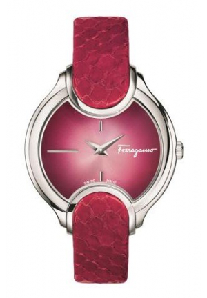 SIGNATURE CHERRY RED DIAL LADIES WATCH, 38MM