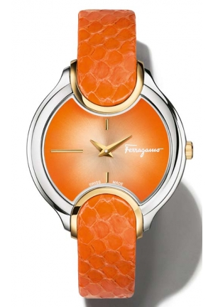 SALVATORE FERRAGAMO Signature Analog Display Quartz Orange Watch 38mm