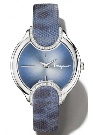 SALVATORE FERRAGAMO Signature Analog Display Quartz Blue Watch 38mm