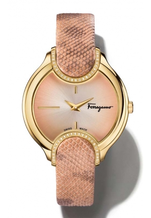 SALVATORE FERRAGAMO Signature Analog Display Quartz Pink Watch 38mm