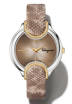 SALVATORE FERRAGAMO Signature Analog Display Quartz Beige Watch  38mm