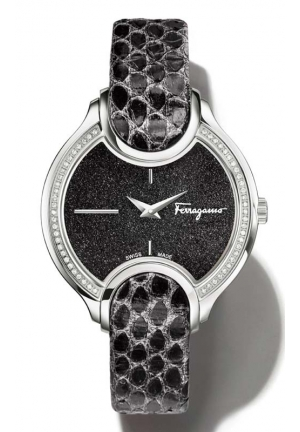 SALVATORE FERRAGAMO Signature Analog Display Quartz Black Watch 38mm