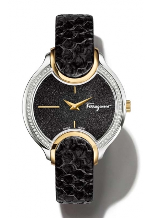 SALVATORE FERRAGAMO Signature Analog Display Quartz Black Watch 38 mm