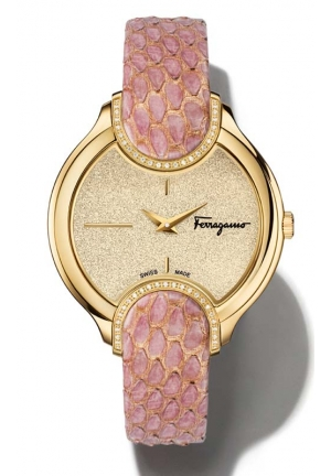 SALVATORE FERRAGAMO Signature Analog Display Quartz Pink Watch 38 mm