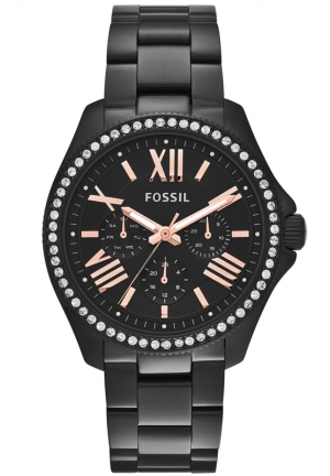 FOSSIL Cecile Black-Tone Stainless Steel Bracelet Watch 40mm