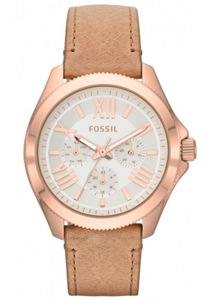 FOSSIL Cecile Chronograph Sand Leather Strap Watch 40mm